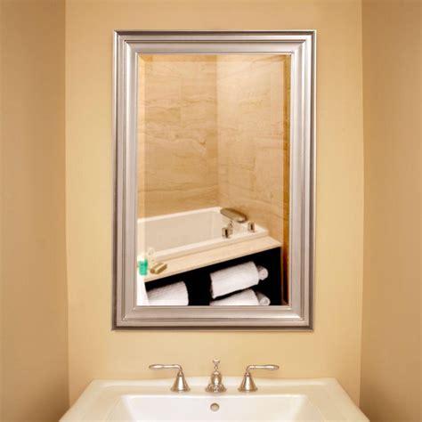 36 in x 24 in x 1 in brushed nickel rectangular vanity