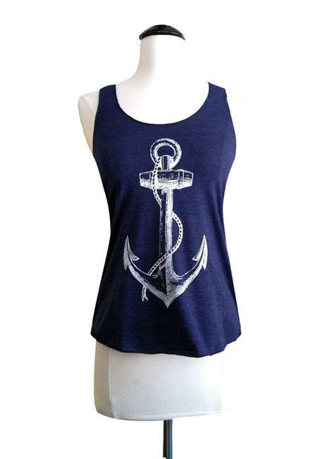 Anchorman I L Shirt by Anchor Tank Top Nautical Sailor American Apparel Tri Blend