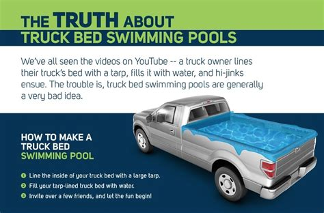Truck Bed Pool Liner by No Swimming Why Turning Your Truck Bed Into A Pool Is A