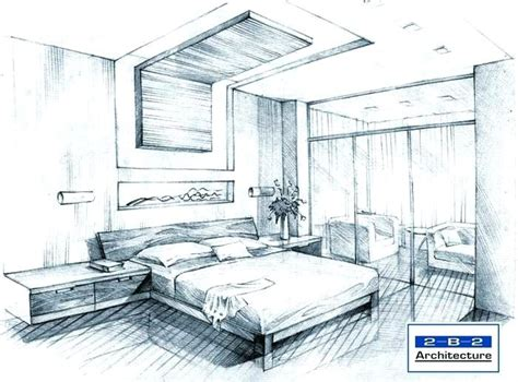 Drawing A Bedroom In Perspective by Bedroom Perspective Drawing At Getdrawings Free For