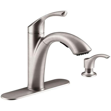 kitchen faucets home depot kohler mistos single handle pull out sprayer kitchen