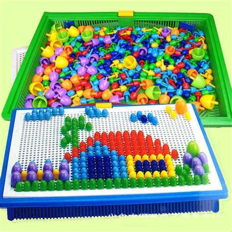 jual mainan edukasi anak edukatif nail susun paku puzzle
