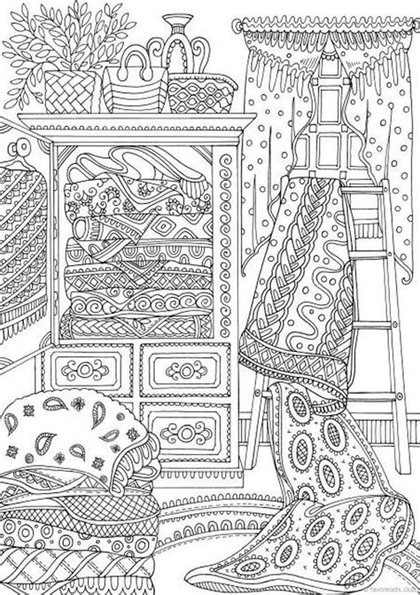 country quilts printable adult coloring page