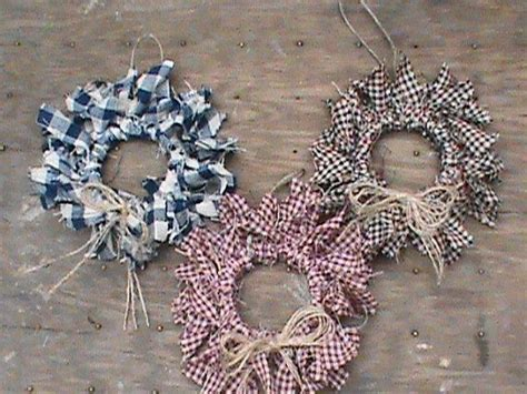 12 Primitive Decor Homespun Mini Rag Wreath Ornaments Best Living Room Colors Benjamin Moore Kitchen Wall Dividers Paint Ideas For Pinterest A Plan Plans Layout Sunken Fireplace House With And Family Cheap Coffee Table Sets