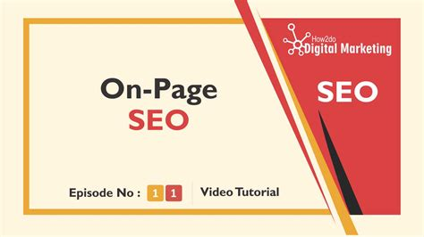 Seo Fundamentals Guide by On Page Seo Fundamentals The Tutorial Guide