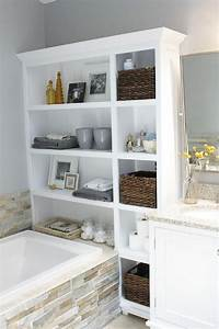 Bathroom, Storage, Small, Boxes, U2022, Bathtub, Ideas