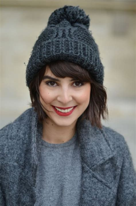 cute ways to wear a beanie in winter hairstyles nail