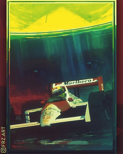 Painted this poster of Senna in his MP4/4. Which driver ...