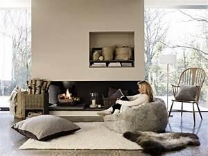 Petit Salon Cosy : d coration de salon en hiver 20 id es votre confort complet ~ Melissatoandfro.com Idées de Décoration