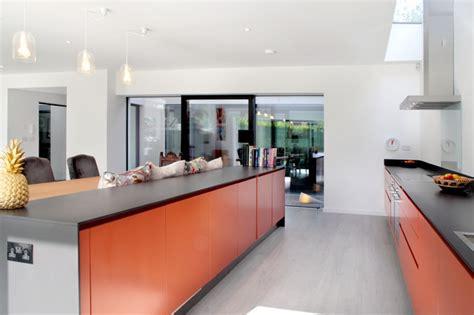 Contemporary Burnt Orange Kitchen  Contemporary  Kitchen