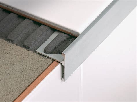 tile stair nosing manufacturers linear metal stair nosing profile stairtec sr by profilitec