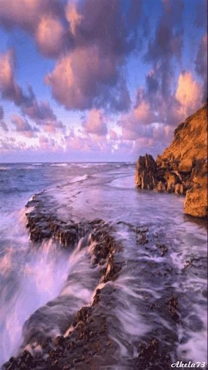 Naturaleza Gifs Google Scenery Nature Waterfall Sea