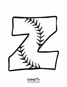 baseball alphabet letter z woo jr kids activities With baseball alphabet letters