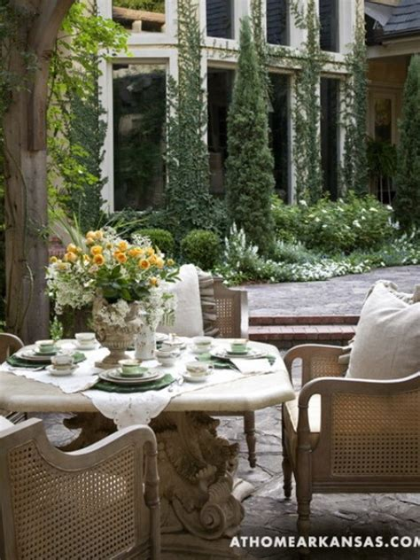 amazing  european style garden  terrace design