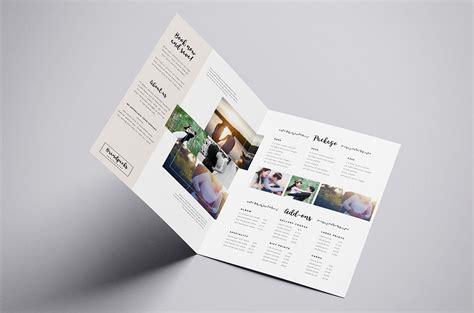 wedding photographer brochure templatespacktemplate