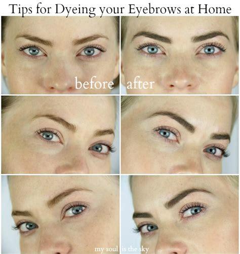 dye  eyebrows  home missy sue