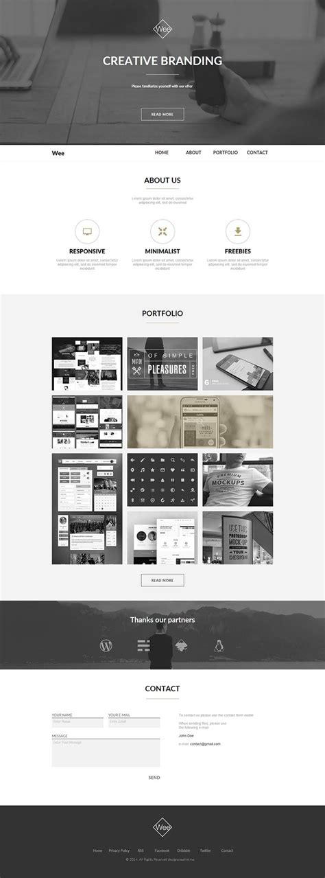 One Adobe Muse Theme Website Templates Creative Market 1000 Ideas About Muse Website On Cv
