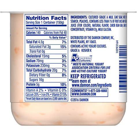dannon yogurt ingredients label top label maker