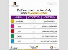 Calendario Verificación Vehicular Secretaría de