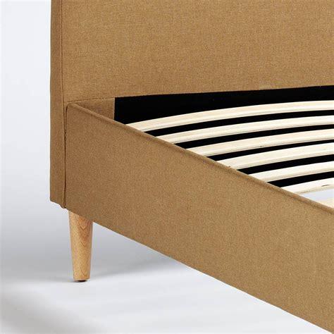 Le misure standard sempre in pronta consegna. Letto Matrimoniale Nordico tessuto e legno 160x190 FRIBORG KING | eBay