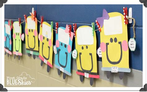 bustin into school back to school craft and bulletin 884 | back to school craft