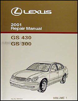 free service manuals online 2005 lexus gs user handbook 2001 lexus gs 300 430 repair manual vol 1 gs300 gs430 original oem shop service ebay