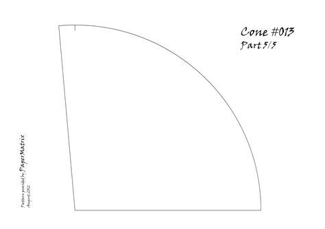 paper cone template cone 013 papermatrix
