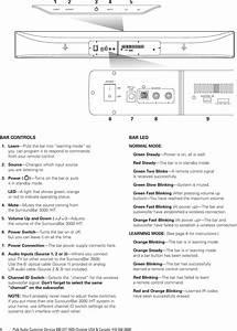 Polk Audio Surroundbar 3000 Users Manual Iht3000 Mn 1925rev