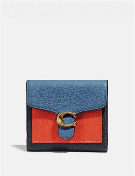 coach tabby small wallet  colorblock