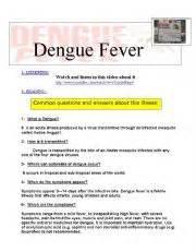 english worksheets dengue