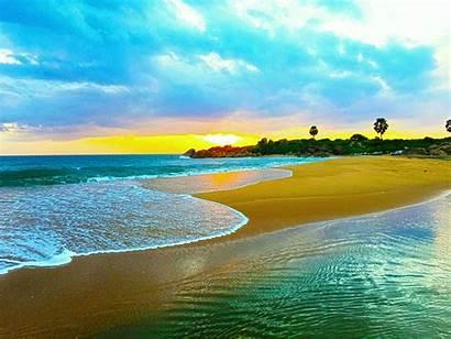 Lanka Sri Nature Waves Sea Bay Rock