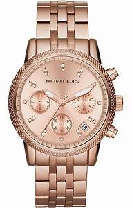 **NEW* LADIES MICHAEL KORS ROSE GOLD RITZ CRYSTAL WATCH ...