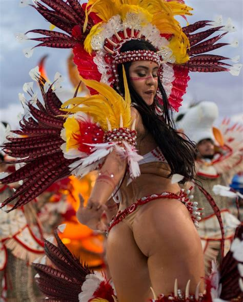 Rio Carnival sees naked body paint, thongs and slave-themed dancers for dazzling 700m samba parade