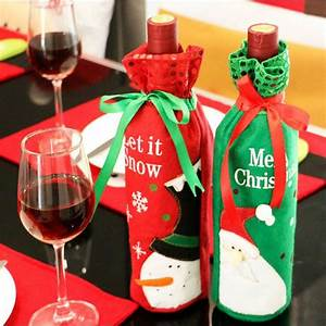 Aliexpress, Com, Buy, Christmas, Decorations, Wine, Bottle, Set, Wine, Gift, Bags, Kitchen, Decor, For, New