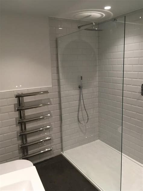 large  standing glass shower screen   channel
