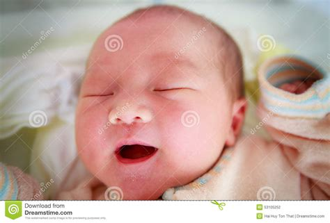 Newborn Baby Girl In The Hospital Stock Photo Image