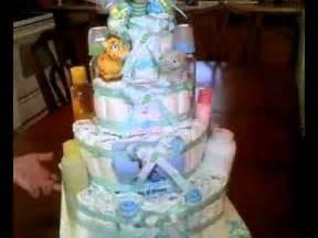 baby shower cake pastel de pañales para baby shower de niño