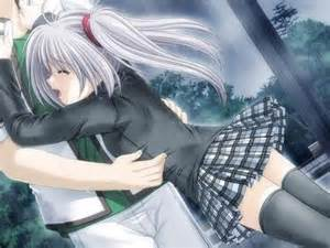 Anime Boy Hugging Crying Girl