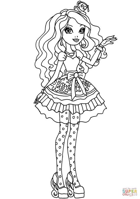 high madeline hatter coloring page