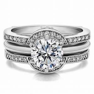 diamond halo princess engagement wedding ring guard With wedding ring guard