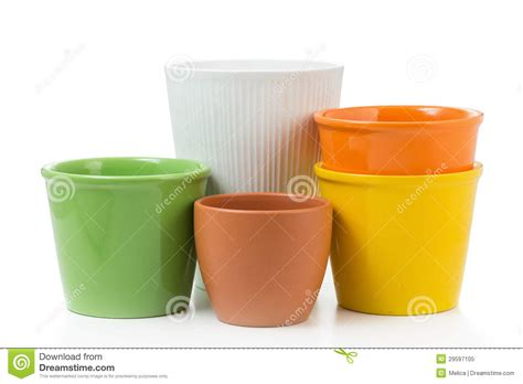 decorative flower pots royalty free stock photo image