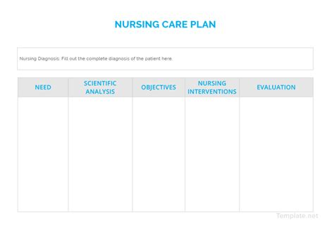 nursing care plan templates  word  apple pages