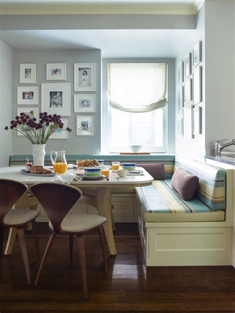breakfast nook seating dining room traditional