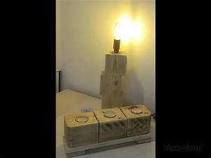 Lampe En Palette : lampe et bougeoir en palette par marco audrey ~ Voncanada.com Idées de Décoration