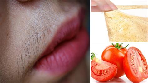 Permanent Facial Hair Removal With Tomato Peel Off Mask