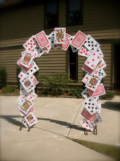card arch  alice  wonderland party props