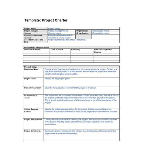 Project Charter Template 40 Project Charter Templates Sles Excel Word