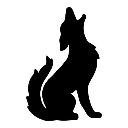 southwestern designs howling coyote silhouette clipart best