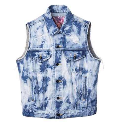 acid wash vests  style denim party gear  roc star