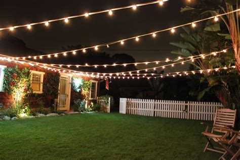 Outdoor Yard Lights by Patio Cafe Style Lighting Adds So Much And Charm To
